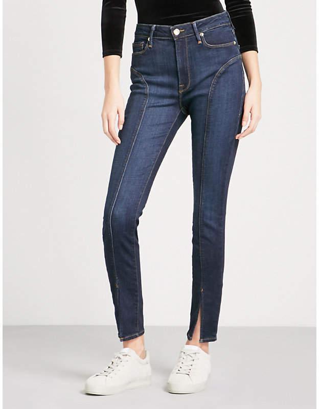 Good American Good Legs split-hem slim-fit high-rise jeans