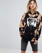 Obey Oversized Hoodie With Bleach Wash And Screamer Print