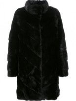 Yves Salomon Chevron Mink Fur Coat