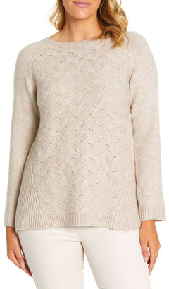 Marc O'Polo Marco Polo Long Sleeve Wave Cable Knit Dusty