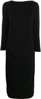 Giorgio Armani Drape-Embellished Midi Hem