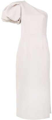 Rebecca Vallance Andie one sleeve midi dress