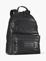 John Varvatos Suede Plaid Backpack