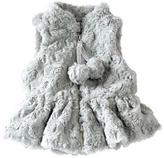 Mud Pie Gray Fur Vest