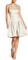 Oscar de la Renta Sleeveless Full Skirt Silk Lined Dress