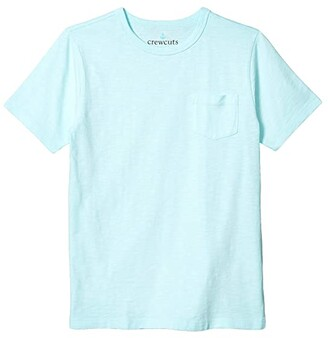 crewcuts by J.Crew Short Sleeve Garment Dye Pocket Tee (Toddler/Little Kids/Big Kids) (Sea Mist) Boy's Clothing
