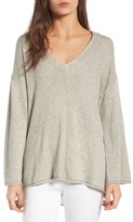 Women's Guest Editor Deep V-Neck Hooded Pullover