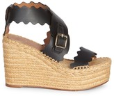Chloé Lauren Leather Espadrille Platform Wedge Sandals