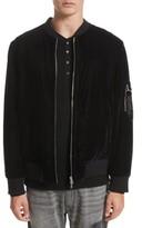 Ovadia & Sons Men's Os-1 Reversible Velvet Bomber Jacket
