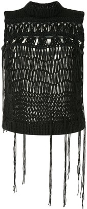 Ann Demeulemeester Knitted Sleeveless Vest Top