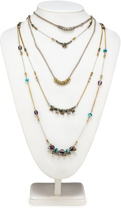Abbott Collection 54-BOHO-NK-5147 5 Layer Necklace