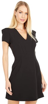 Milly Cady Atalie Dress (Black) Women's Clothing