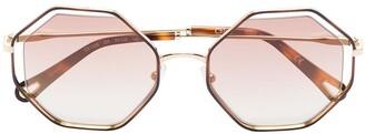 Chloé Dree octagonal-frame sunglasses