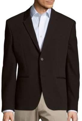 Versace Mix Media Cotton Blend Jacket