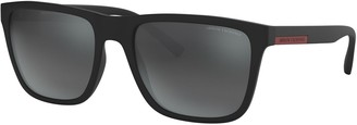 Armani Exchange Men's Urban Attitude AX4080S 57mm Square Sunglasses