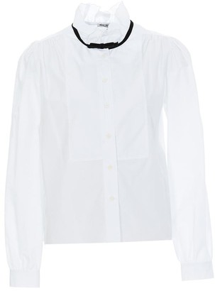 Miu Miu Ruffled Bow Detail Shirt