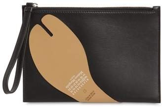 Maison Margiela TABI LEATHER CLUTCH