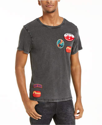 GUESS Men Ski Patches Graphic T-Shirt