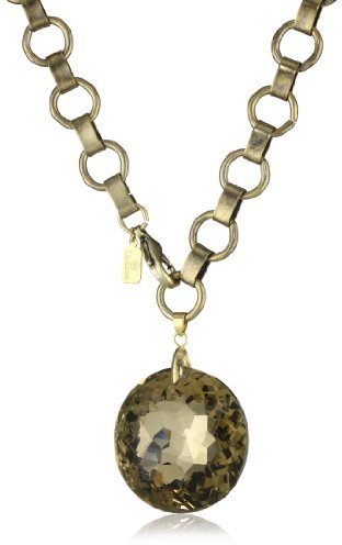 "Lionette NY ""Debut"" Chain Crystal Pendant Necklace"