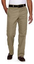Classic Men's Regular Pre-hemmed Spring Chino Pants-Evergreen