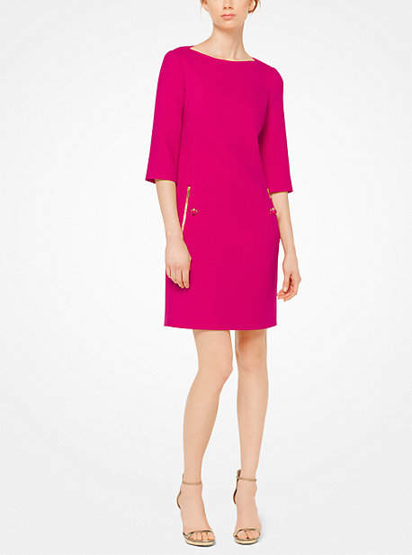 Michael Kors Boucle-Crepe Shift Dress