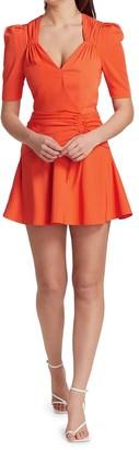 Jonathan Simkhai Lilit Puff-Front Draped Mini Dress