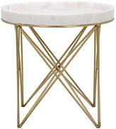Noir Prisma Side Table - White/Gold