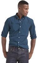 Gap True wash dot slim fit shirt