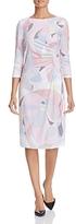 Basler Abstract Print Shirred Dress
