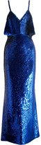 Ashish Sequined Silk Gown - Royal blue
