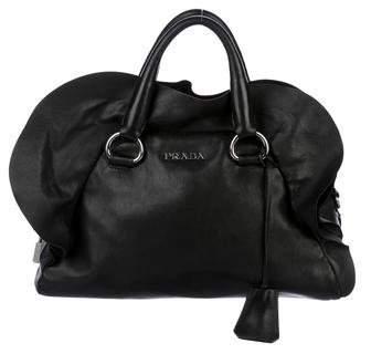 Prada Nappa Ruffle Handle Bag