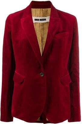 UMA WANG velvet slim-fit blazer