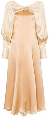 REJINA PYO contrasting-collar midi dress