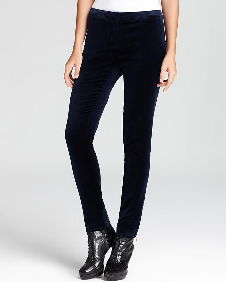 Burberry Pants - Morville Stretch Velvet Skinny