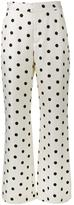 Maryam Nassir Zadeh polka dot print wide leg trousers - women - Silk/Wool - 4