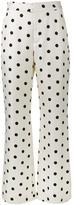 Maryam Nassir Zadeh polka dot print wide leg trousers - women - Silk/Wool - 4