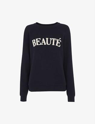 Whistles Beaute cotton-jersey sweatshirt