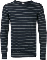 Closed striped knitted sweater - men - Virgin Wool - S