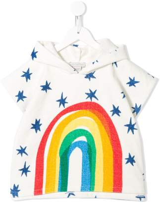 Stella McCartney Rainbow-Print Hooded Towel