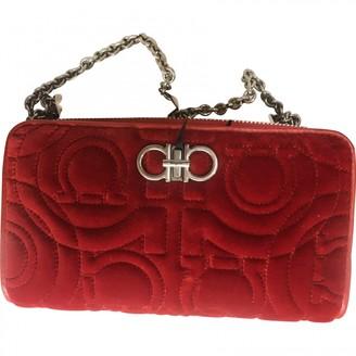 Salvatore Ferragamo Sofia Red Velvet Handbags
