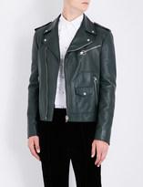 Bally Patch pocket leather biker jacket