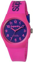 Superdry 'Urban' Quartz Plastic and Silicone Dress Watch, Color:Pink (Model: SYG164PV)