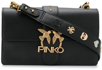 Pinko Seventies leather shoulder bag