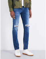 Neuw Iggy Distressed Slim-fit Skinny Mid-rise Jeans