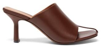 Neous Jumel Open-toe Leather Mules - Dark Brown