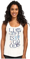 Life is Good Floral Simple Sleep Tank
