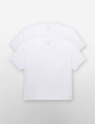 Calvin Klein Cotton Classic Big + Tall 2 Pack Crewneck T-Shirt