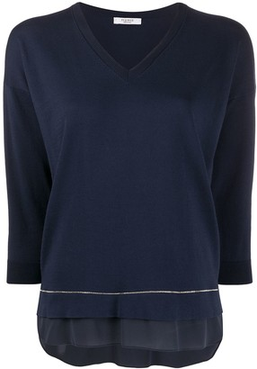 Peserico Long-Sleeve Flared Jumper