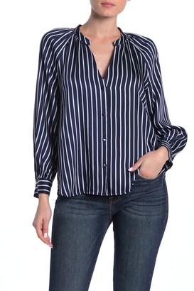 Frame Twill Stripe Print Raglan Shirt