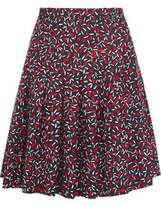 Vanessa Seward Anais Pleated Silk-Jacquard Skirt